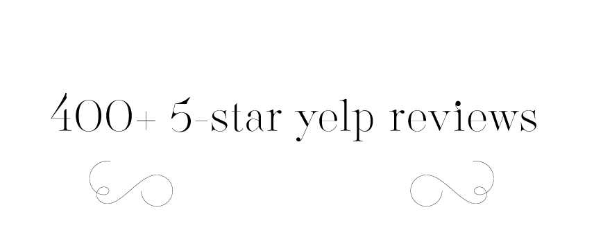 Thanks to our clients for 400+ five star yelp reviews!